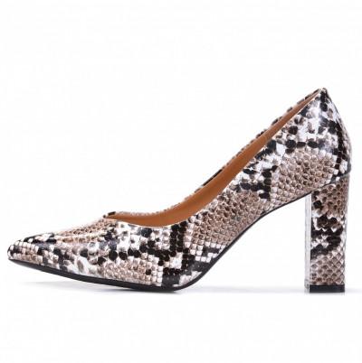 Cipele na štiklu L241929 zmija