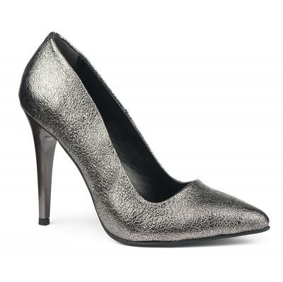 Cipele na štiklu sa šljokicama 5010 srebrne