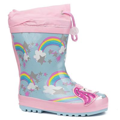 Gumene postavljene čizme BH121800 pink