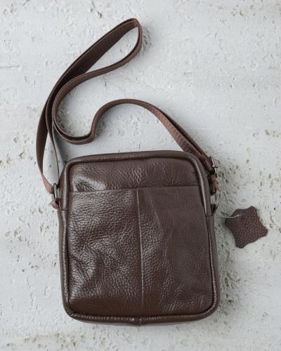Kožna muška torbica braon 02