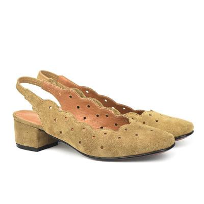 Kožne cipele sa otvorenom petom M978 kamel