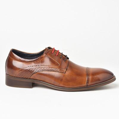Kožne muške cipele P6503 braon
