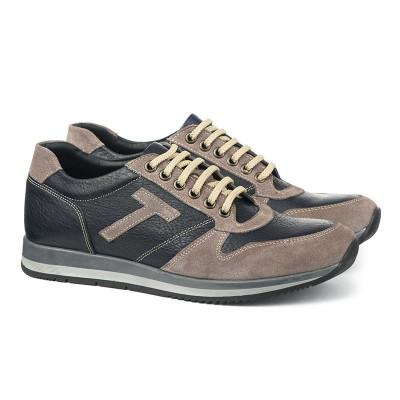 Kožne muške cipele/patike 0290 sive