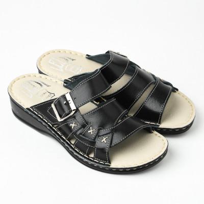 Kožne papuče 641 crne