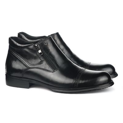 Kožne poluduboke cipele za muškarce HL-H1022D-18-M110-4R crne