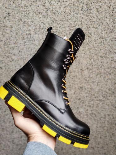 Kožne poluduboke čizme H4300/01-36 crne