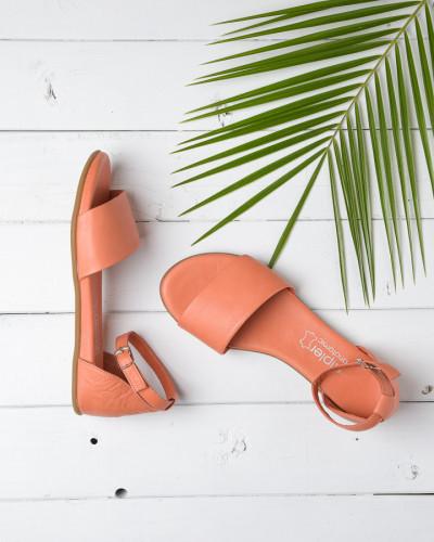 Kožne ravne sandale 2035 narandžaste
