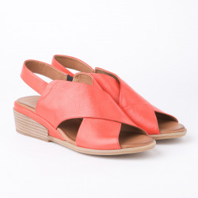 Kožne sandale 1613 koralno crvene