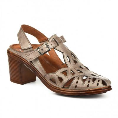 Kožne ženske sandale K1610/528 bež