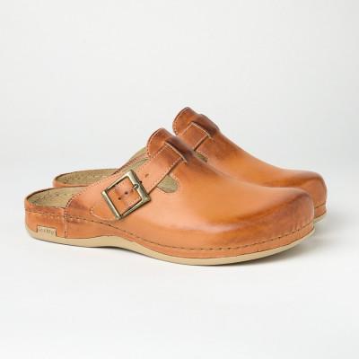 Muške kožne papuče/klompe 707 kamel