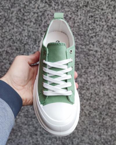 Plitke patike L182103 zelene