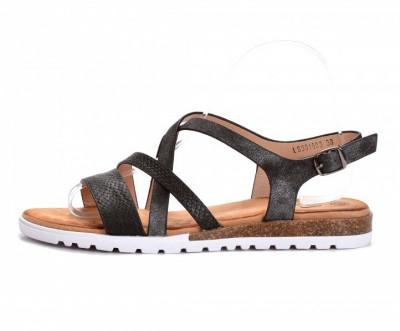 Ravne sandale LS381903 crne