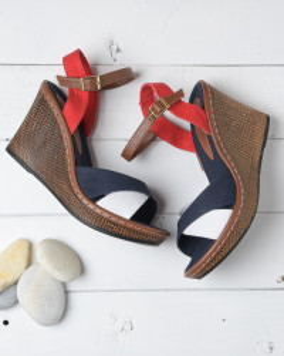Sandale na ortoped petu 402 teget/belo/crveno