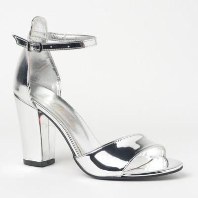 Sandale na štiklu 27 srebrne