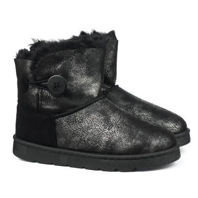 Tople čizme LH181800 crno-sive