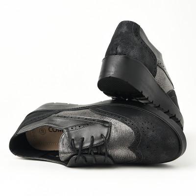 Ženske cipele na pertlanje L85554-1 sive