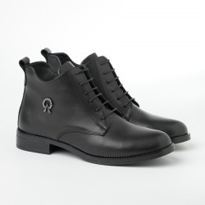 Ženske kožne poluduboke cipele 91115 crne