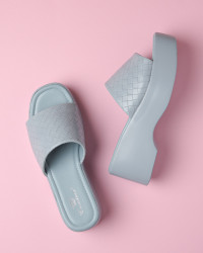 Ženske papuče na debelom đonu WL3080 plave
