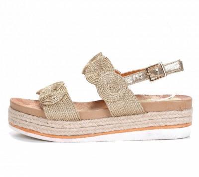 Ženske sandale LS271949 zlatne