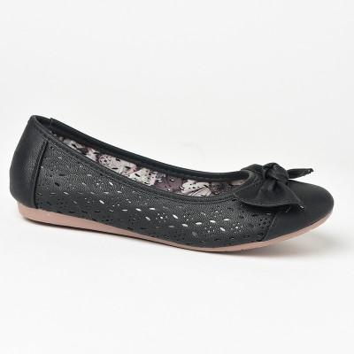 Baletanke sa kožnom tabanicom L71223-2 crne