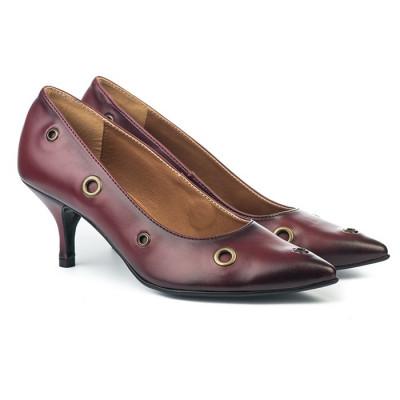 Cipele na malu štiklu B116 bordo
