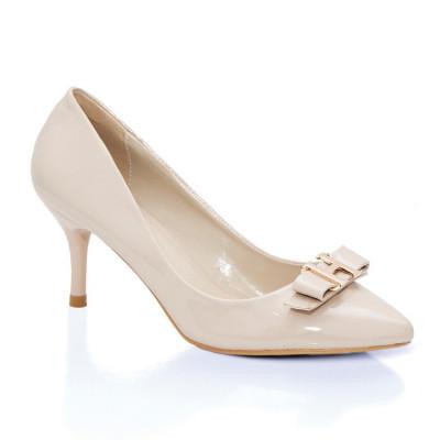 Cipele na malu štiklu L16105 bež lak