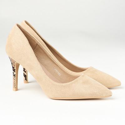 Cipele na štiklu L241946 bež