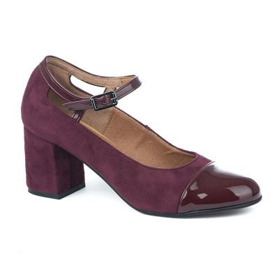 Cipele sa kožnom postavom 12-845 bordo