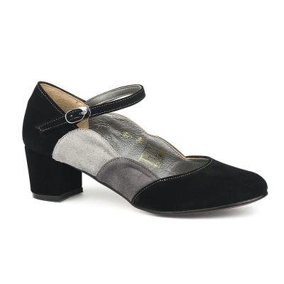 Cipele sa kožnom postavom 14-964 crne