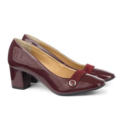 Cipele sa kožnom postavom 17-943 bordo
