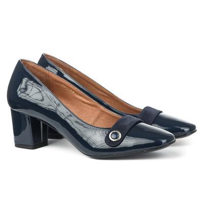 Cipele sa kožnom postavom 17-943 teget