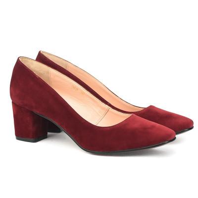 Cipele sa kožnom postavom 17-968 bordo