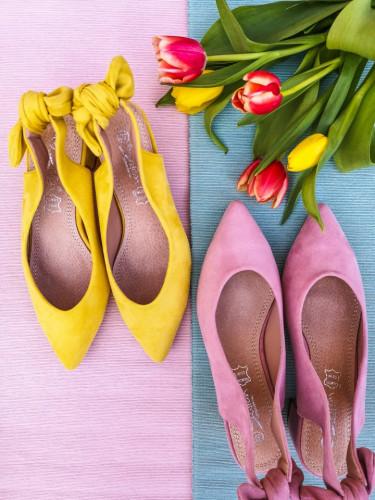 Cipele sa otvorenom petom LS771908 žute