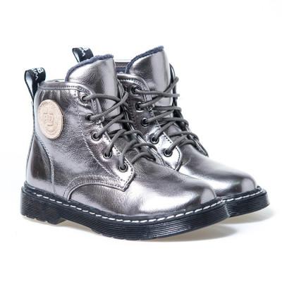 Dečije duboke cipele  D352A srebrne