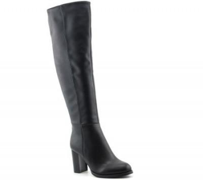 Duboke čizme na štiklu LX85671 crne
