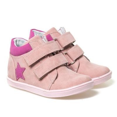 Kožne dečije cipele sa anatomskim uloškom G03  roze