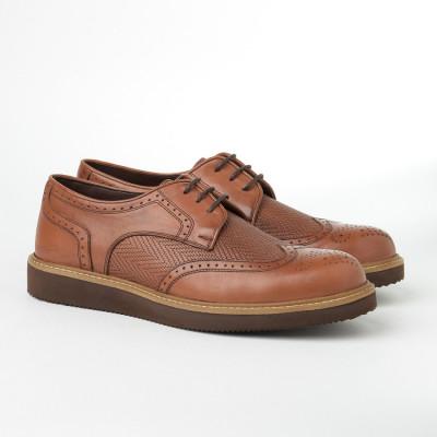 Kožne muške cipele 2019-3 kamel