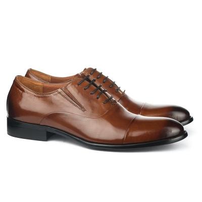 Kožne muške cipele A076-Y01 braon