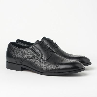 Kožne muške cipele HL-1051F-5-N3 crne