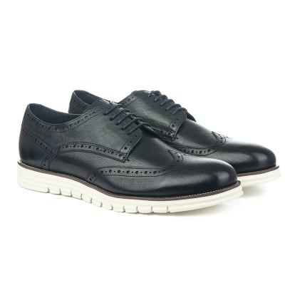 Kožne muške  cipele K161739-38B teget