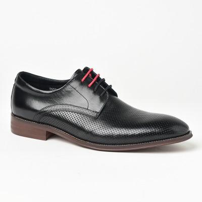 Kožne muške cipele P6504 crne