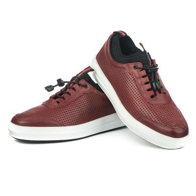 Kožne muške cipele / patike N40351 bordo