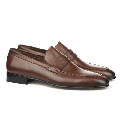 Kožne muške cipele sa kožnim đonom 1711 braon