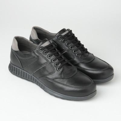 Kožne muške patike/cipele 7299-2 crne