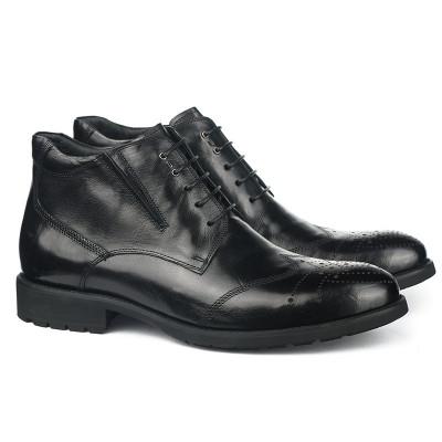Kožne poluduboke cipele za muškarce HL-H1067F-2-M110 crne