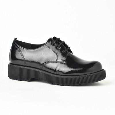Kožne ravne cipele 841025 crne
