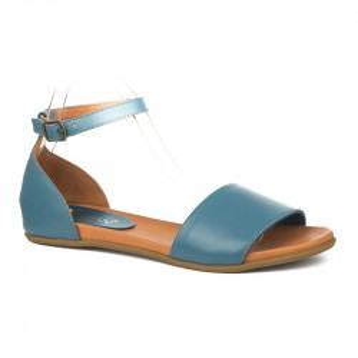 Kožne ravne sandale 2035 plave