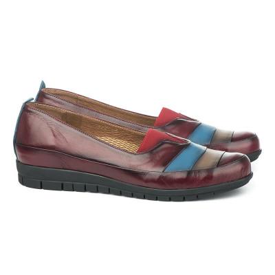 Kožne ženske cipele 5-822 bordo