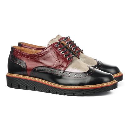 Kožne ženske cipele 6-910 bordo