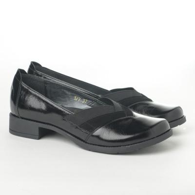 Kožne ženske cipele L-127 crne